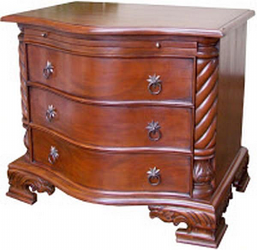 George III Serpentine Chest or Bedside